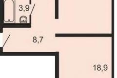 Центр -2. Ремонт 2-комнатной квартиры plan