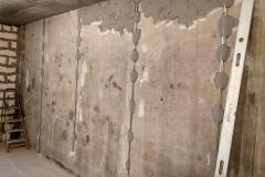 Возведение перегородок, выравнивание стен 2