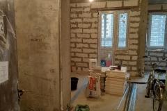 Возведение перегородок, выравнивание стен 9