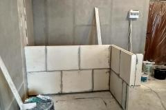 Возведение перегородок, выравнивание стен 20