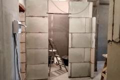 Возведение перегородок, выравнивание стен 22