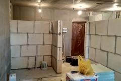 Возведение перегородок, выравнивание стен 23
