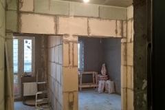 Возведение перегородок, выравнивание стен 30